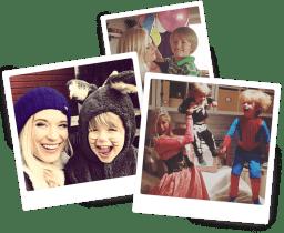Karolina med barn som barnflicka, nanny, barnvakt för barnpassning